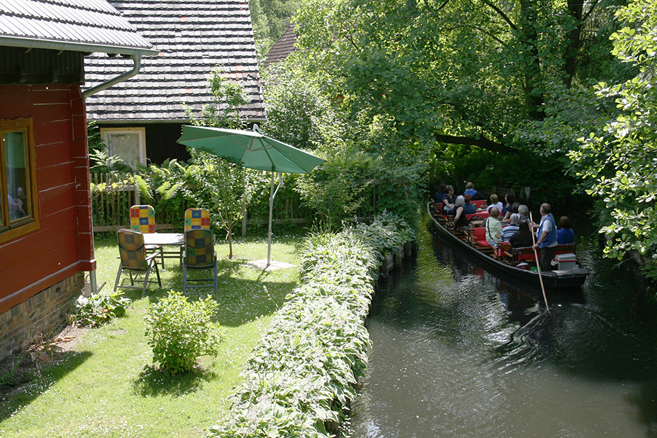 Bootshaus Kaupen Ferienwohnung Spreeloft Garten