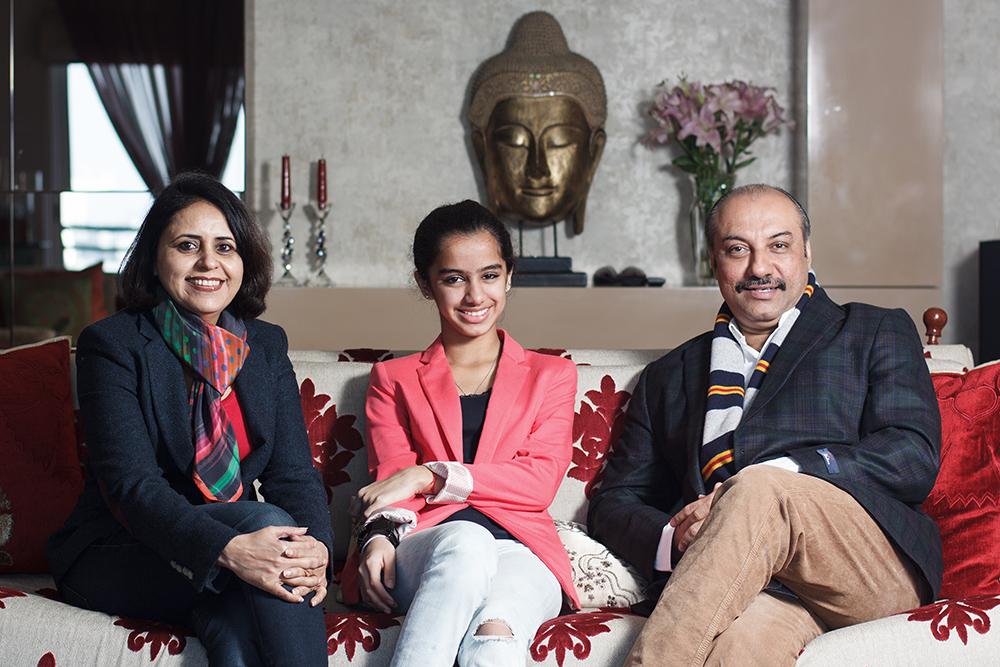 Karan Bajwa ( MD sales & marketing, Microsoft India) with his family
