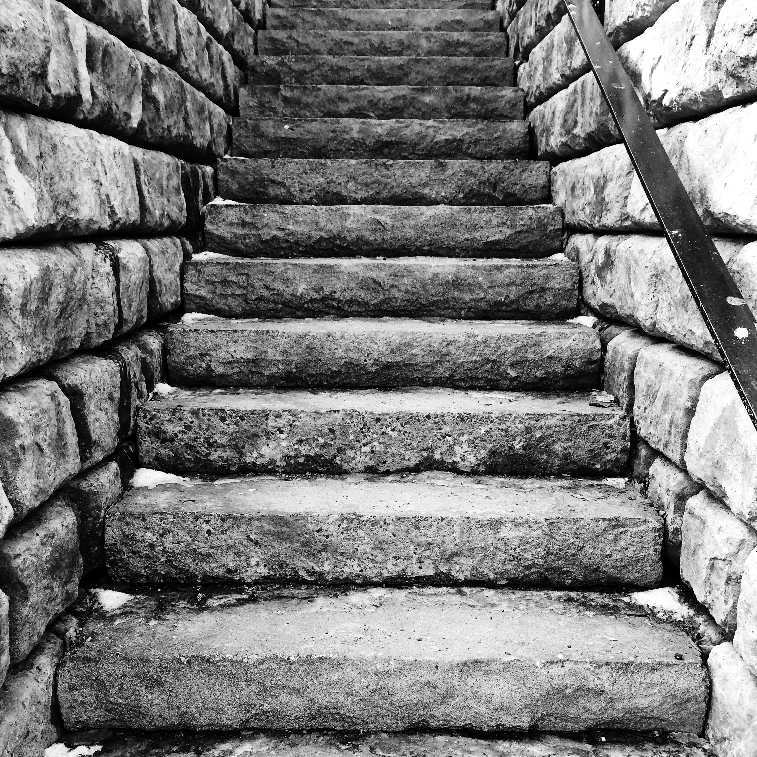 Bricked - A very old staircase on Brunswick St. In Halifax.