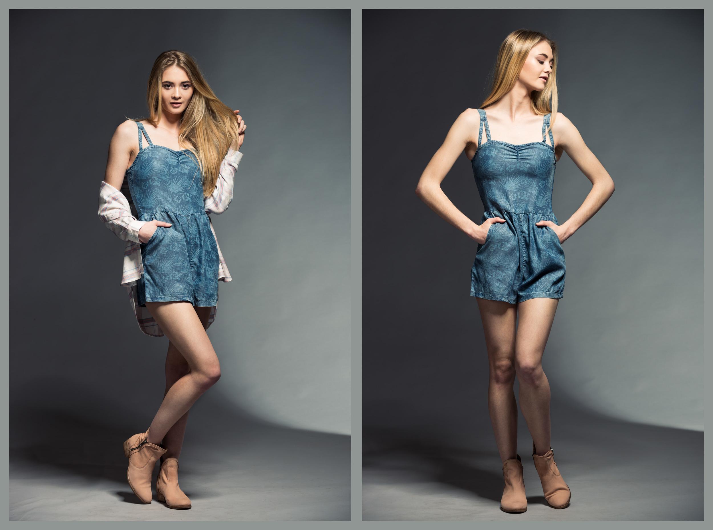 "Romper - DEX (Cdn designer!) | Boyfriend Plaid Shirt - Gentle Fawn (Cdn) | ""Lucky Penny"" Boot - Seychelles"