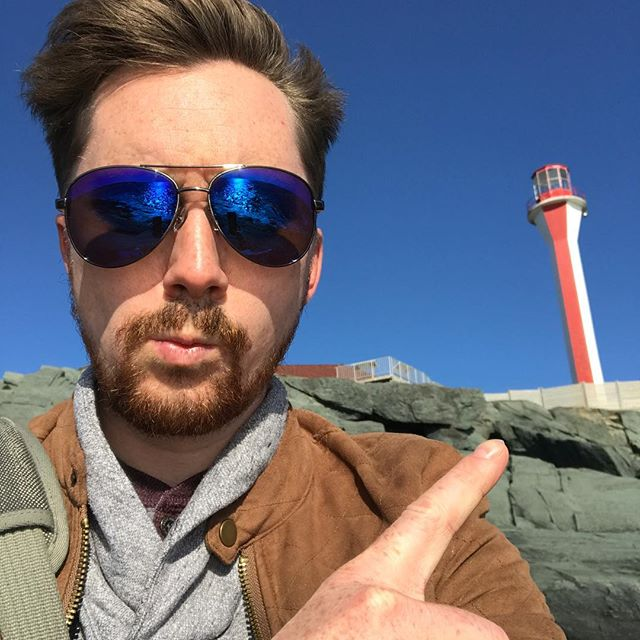 Found myself at Cape Forchu last week while in Yarmouth on a business trip.  I have to say my job gets me places!! . . . . . #explore #explorens #novascotia #capeforchu #lighthouse #ocean #canadasoceanplayground #businesstrip #selfie #seaside