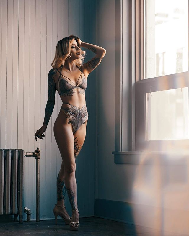From June 2018.  I have been putting off editing these, for no other reason than all the minor distractions that my life has put in front of me lately.  This is one of the last sets that I got to shoot in Aperture with @theka.  Always a joy and inspiration to work with, we pulled off five different looks in the same location in one afternoon.  This is the fourth of those looks. . . . . . #model #lingerie #fashion #glow #beauty #inkedgirls #inked #inkedmagazine #stunning #windowlight #studio #flare #d800 #nikon