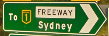 A sign for the F3 (Sydney to Newcastle Freeway)