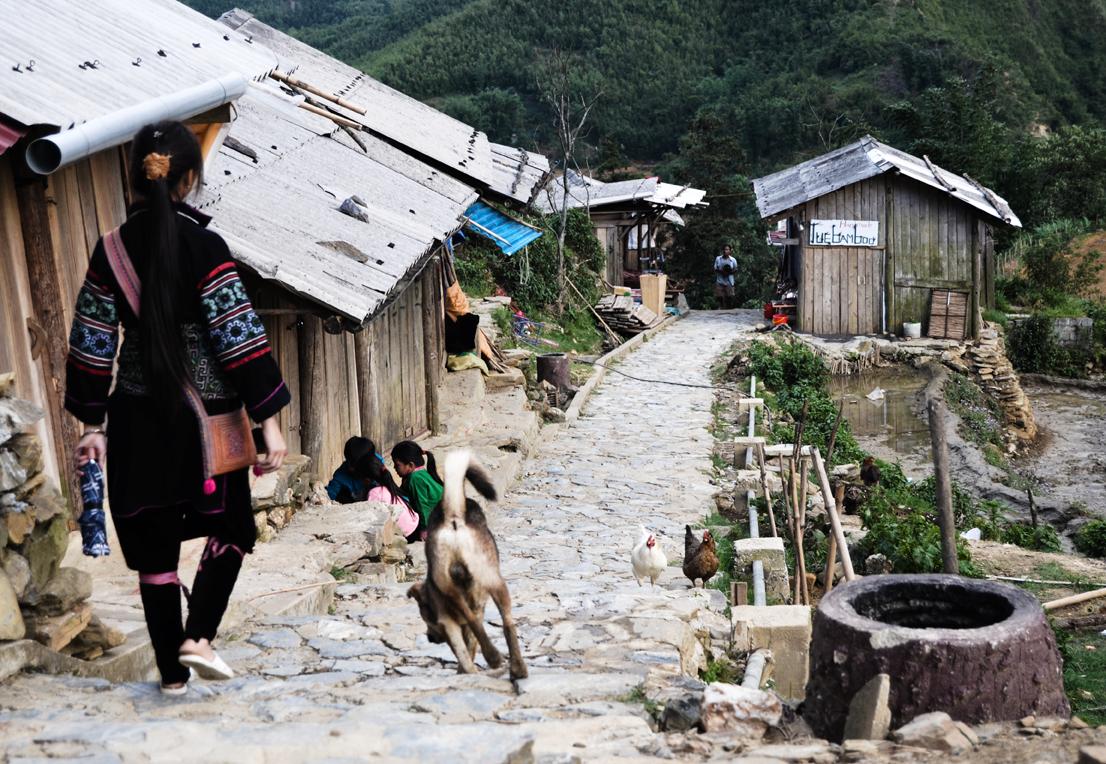 Hmong town Nort Vietnam