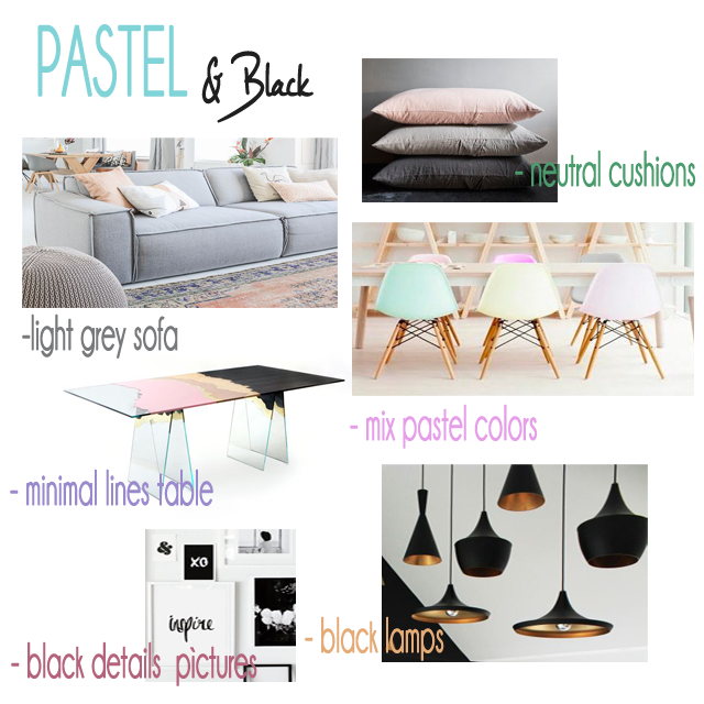 Here we have a more sophisticated and actual style wich has as main component the PASTEL color.