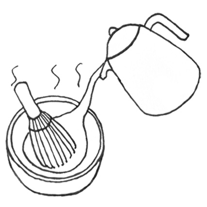 1. Pour hot water into a bowl with the whisk in. This will warm the bowl and soften the whisk, to prevent it from snapping.