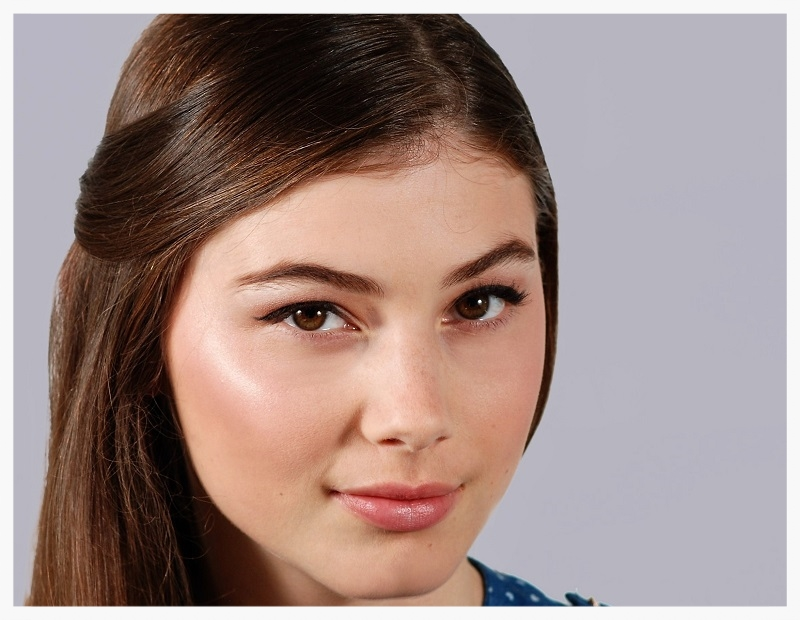 highlights on round face