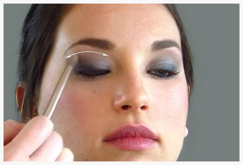 Blending the eyeshadow