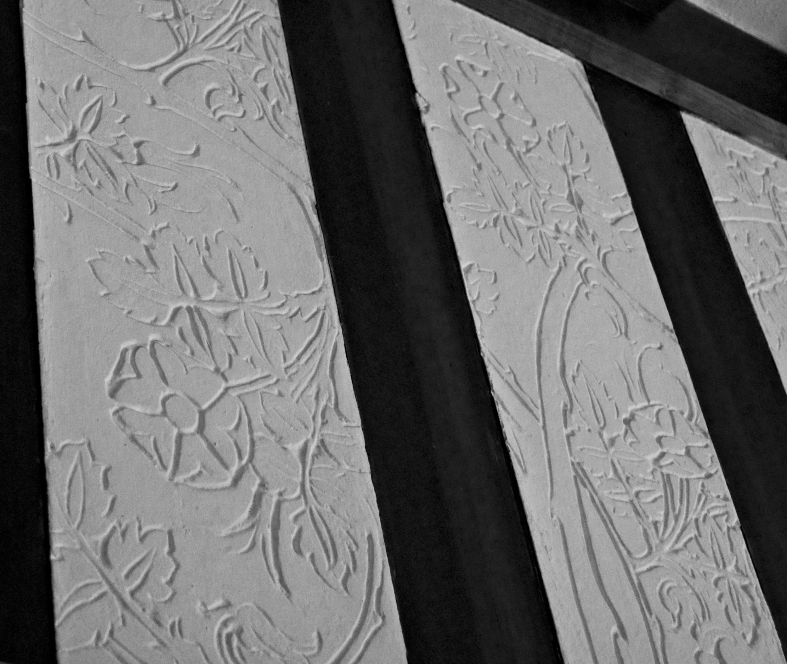 Briar rose carved plaster frieze