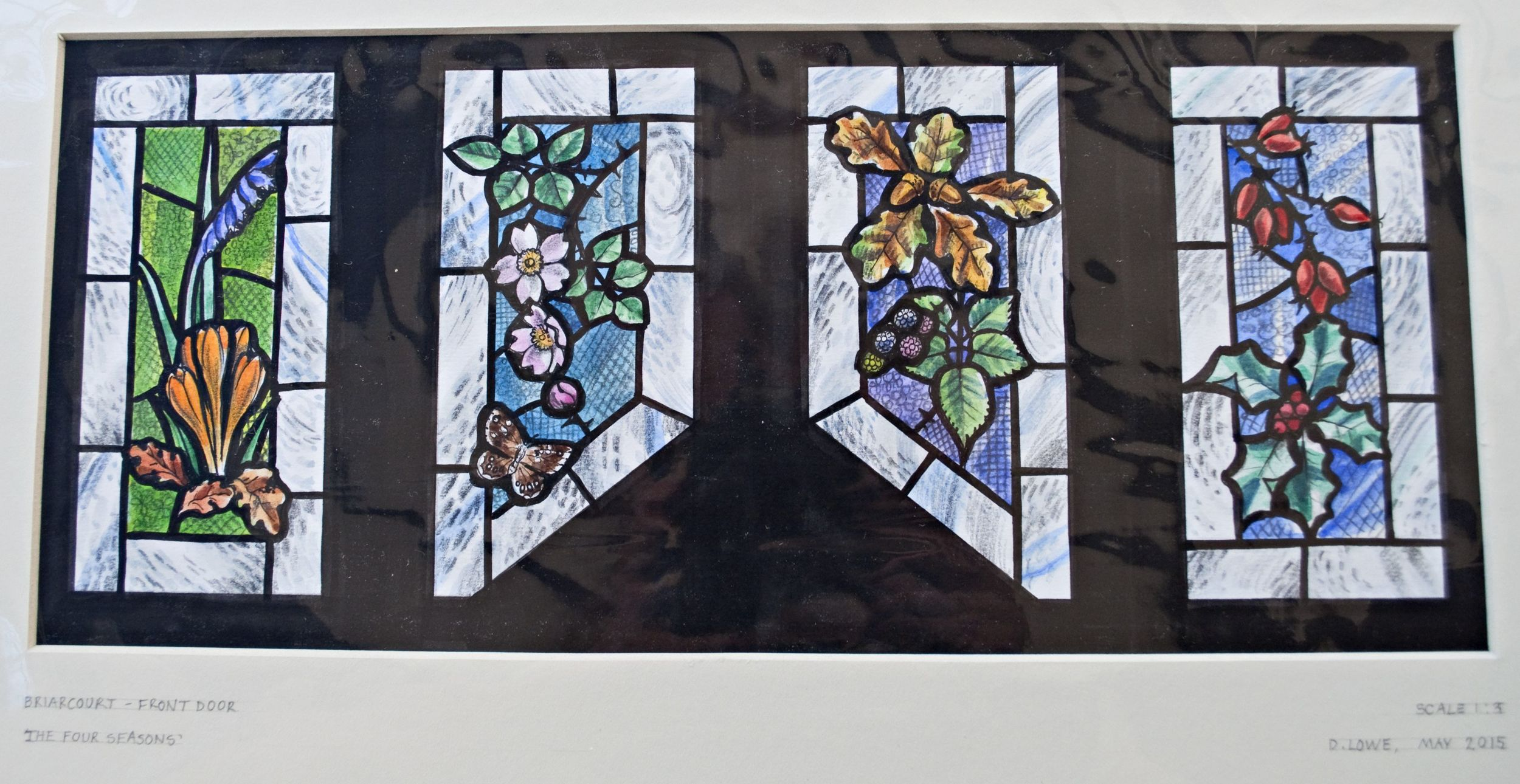 Keeping fingers crossed for our new stained glass. Copyright Deb Lowe.