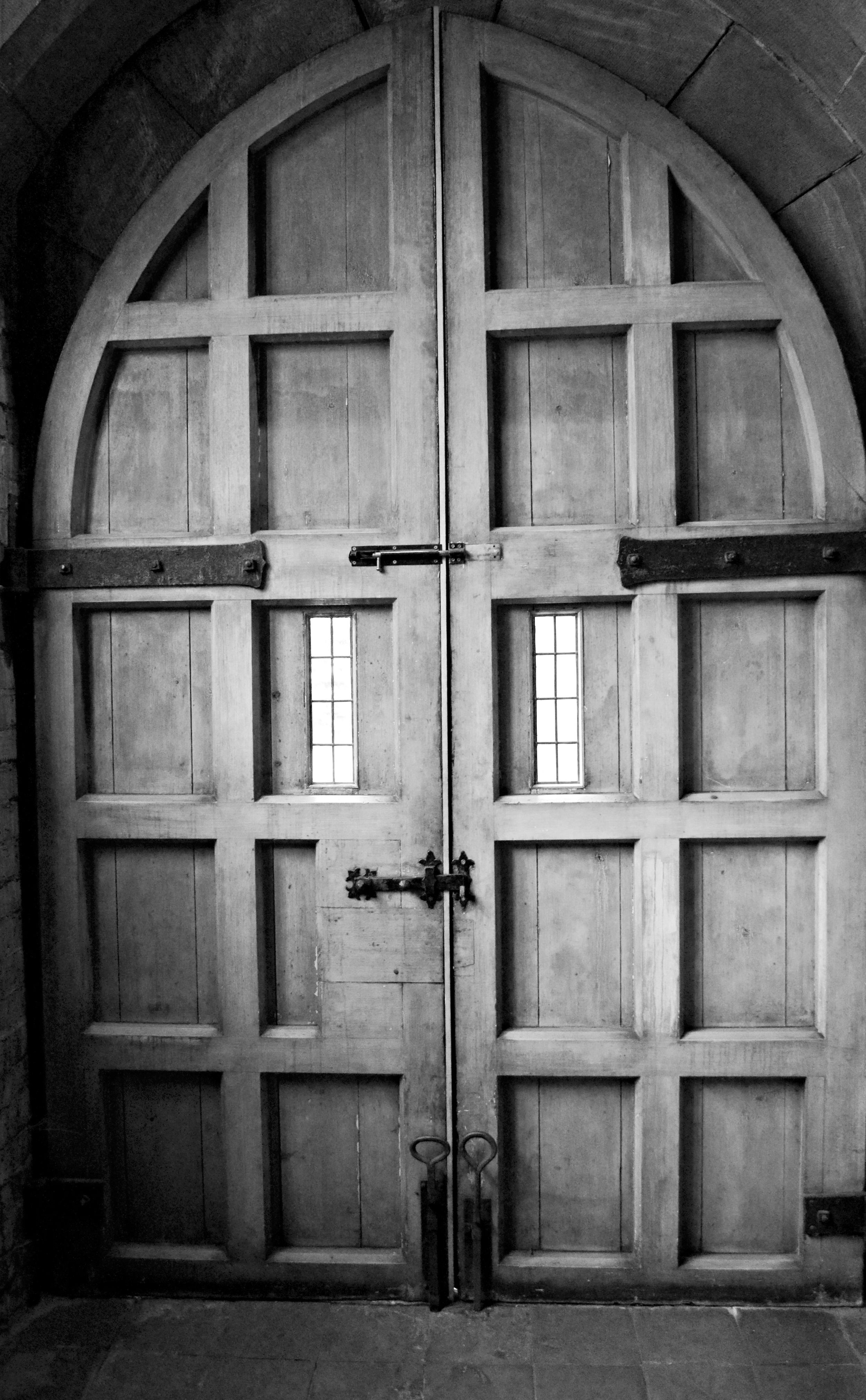 Love this paneled door - the metal work and scale of the windows are right up my street!