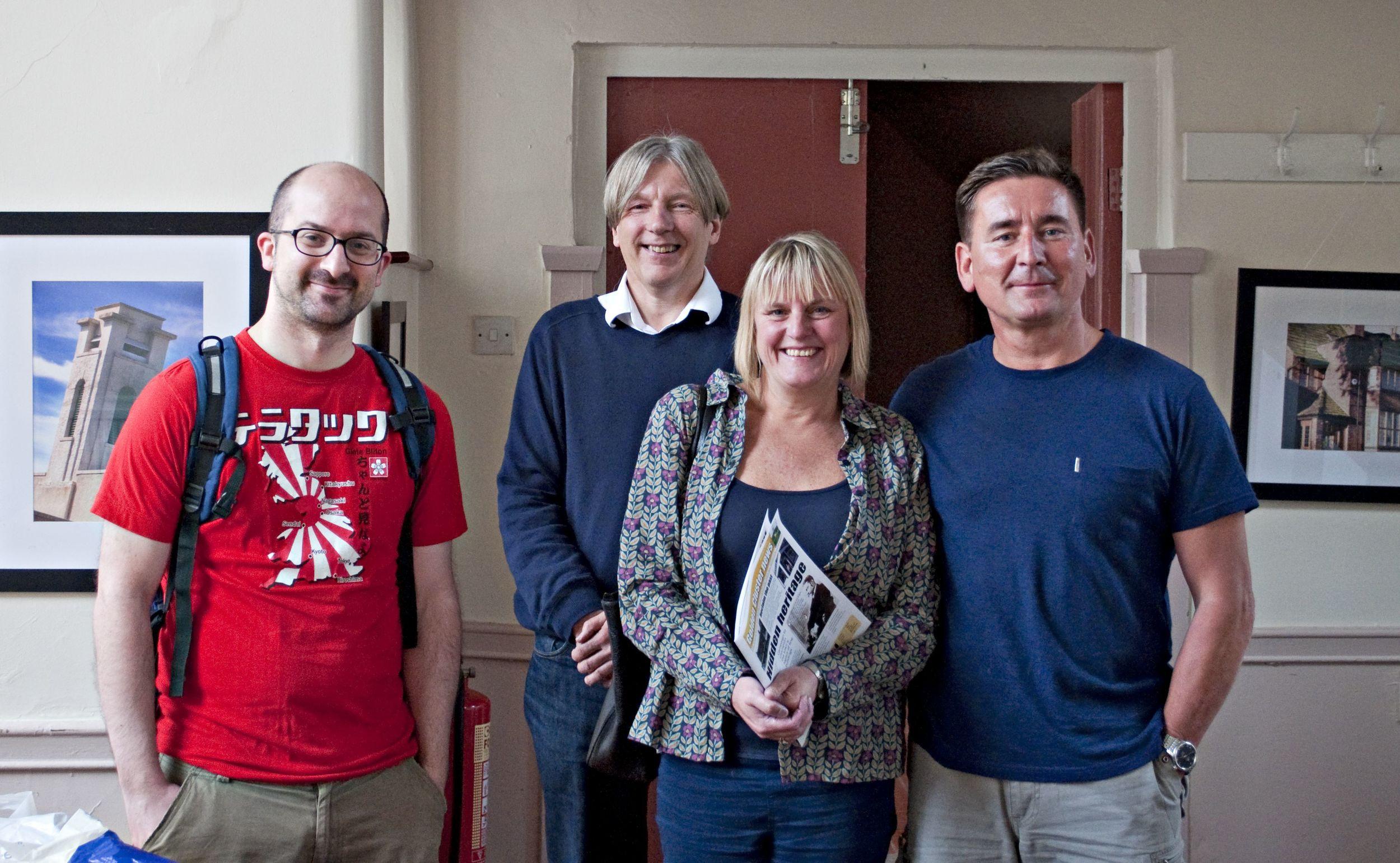 Nick, David, Jo and Sean at Long Street Methodist Church