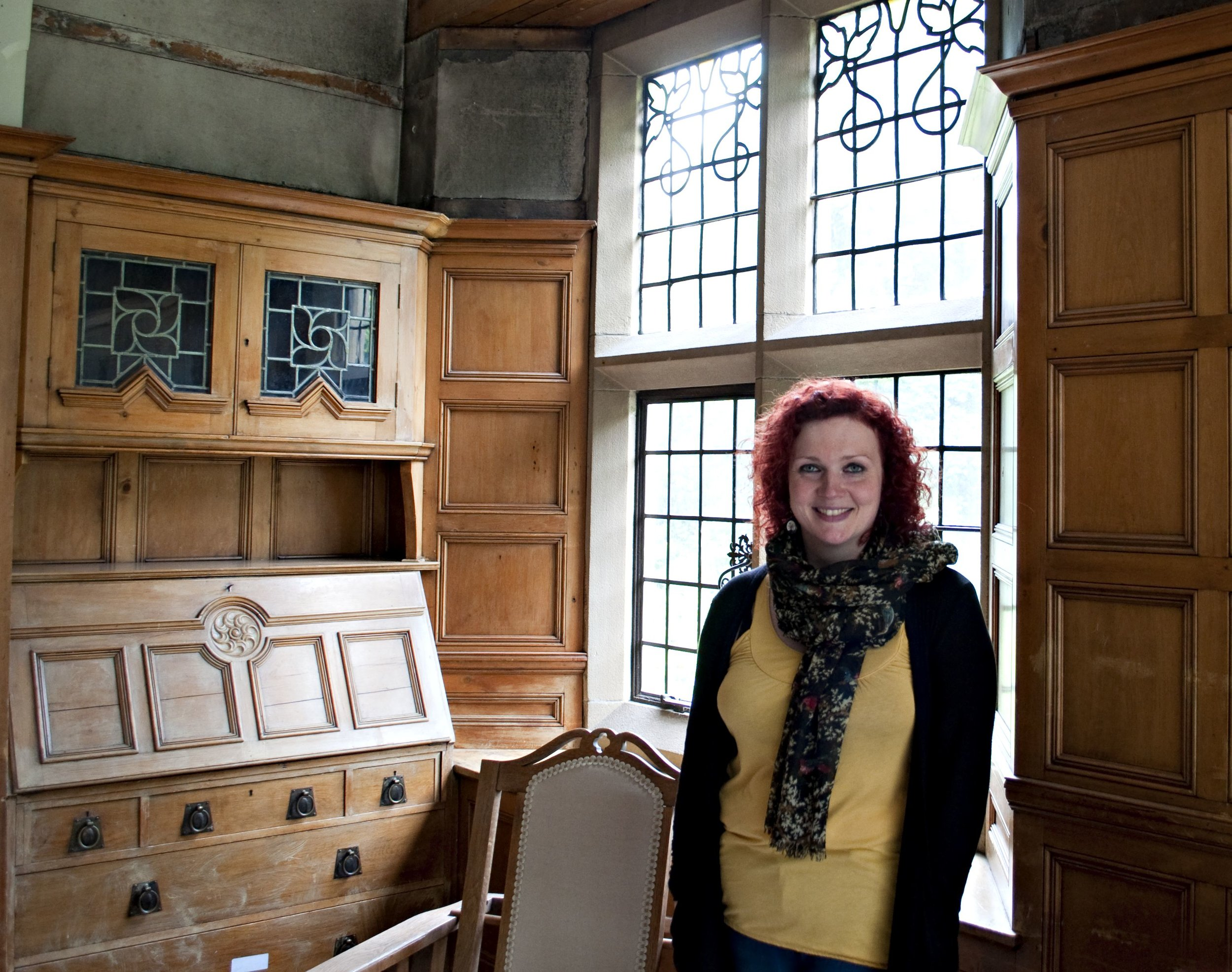 Delighted to welcome Veronica Smith - an expert in George Wragge of Salford.  She confirmed that the metalwork in the windows (including the stained glass) would have been made at Wragge's studio.