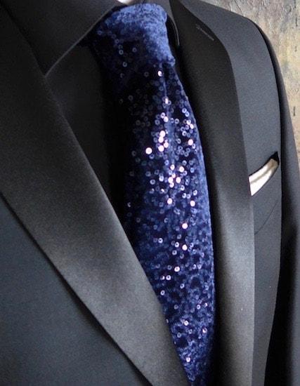 Blue Velvet Custom Tie