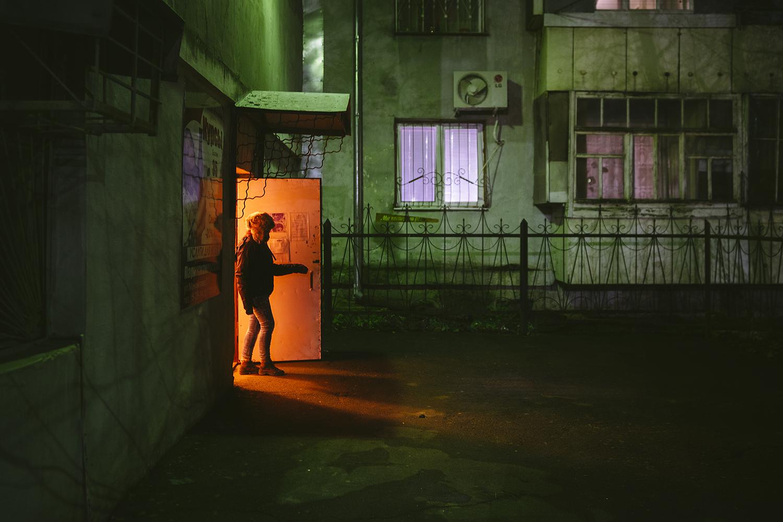 Cae la fría noche en los barrios de Tiráspol, Transnistria. © Pedro J. Saavedra