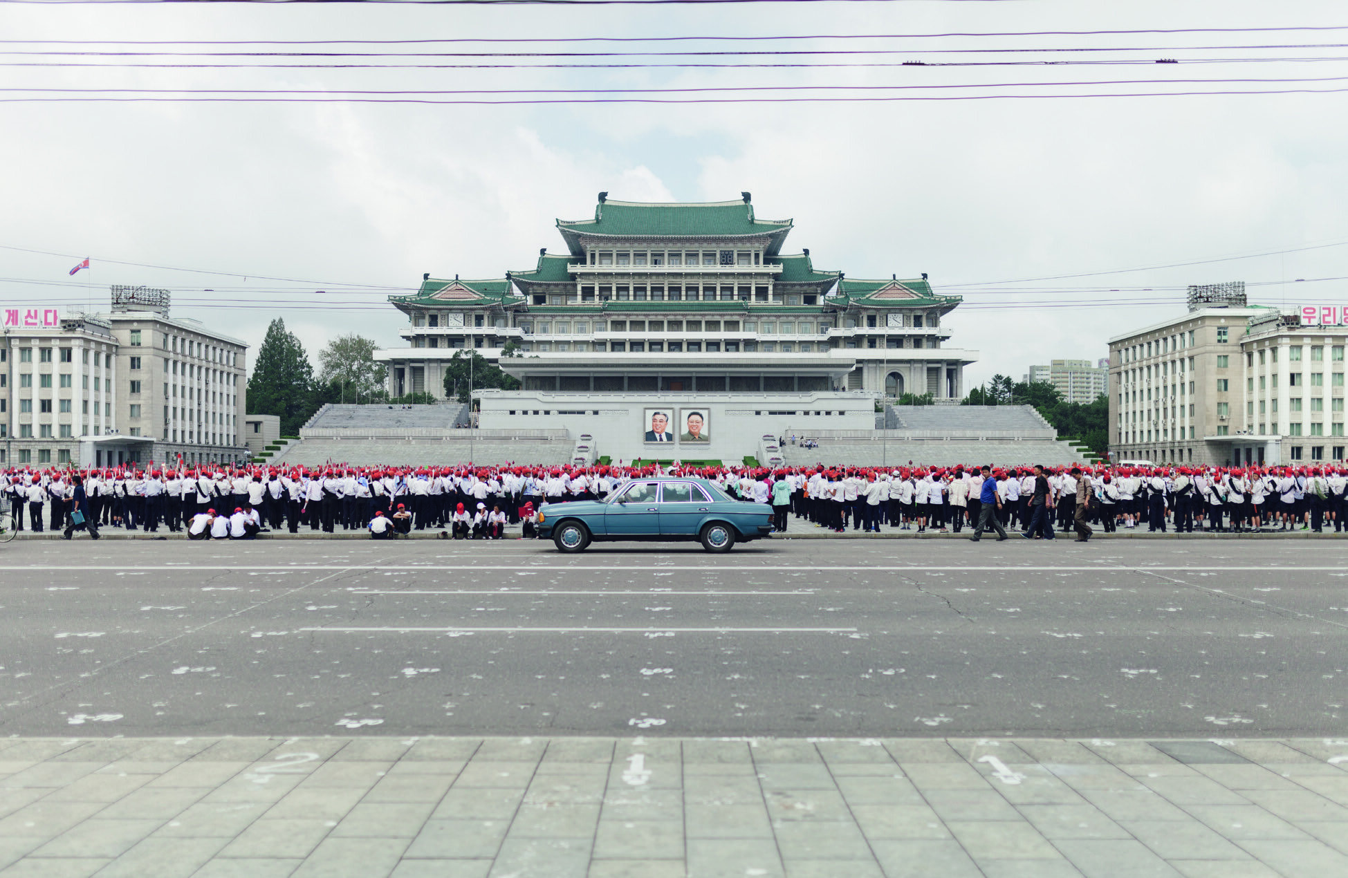 Plaza Kim Il-sung en Pionyang, Corea del Norte.
