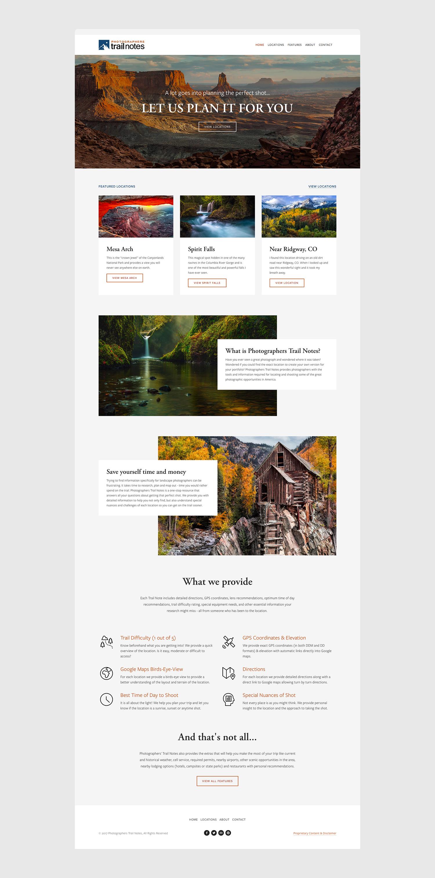 Squarespace Photography Portfolio Website
