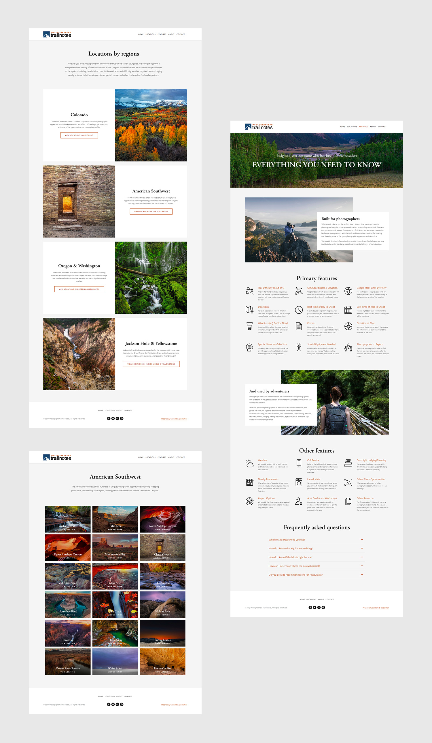 Squarespace Photography Location Website