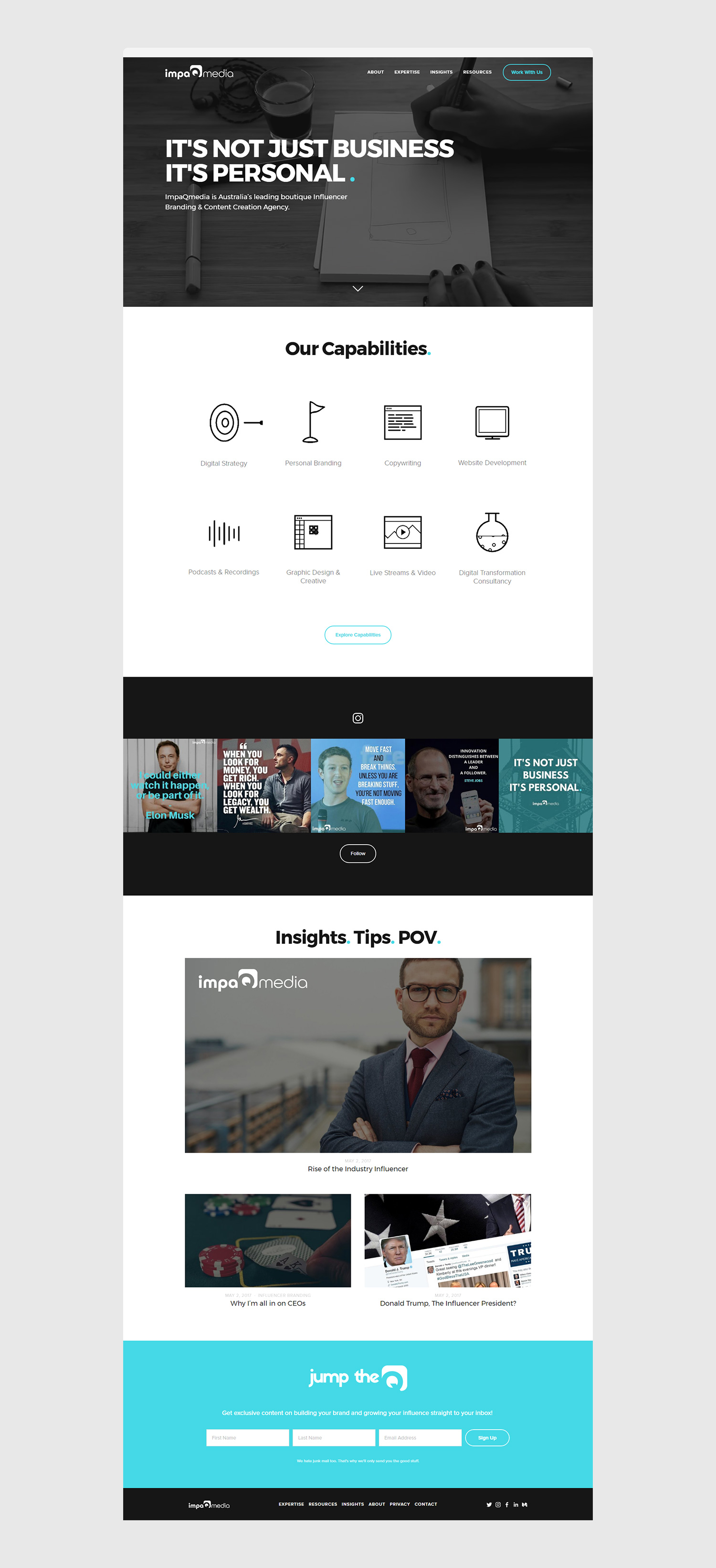 Squarespace Content Creation Agency Website