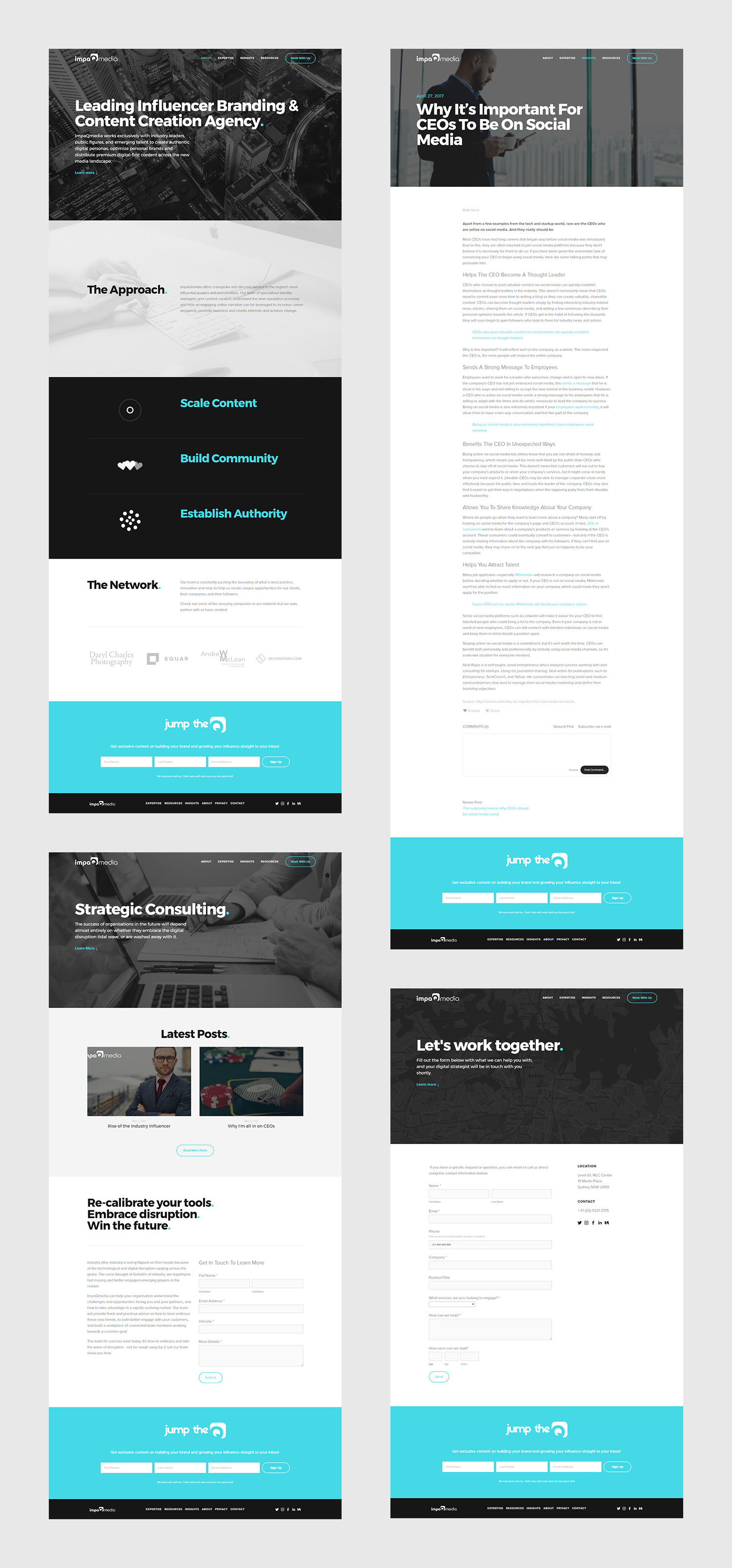 Squarespace Content Creation Agency Website Examples