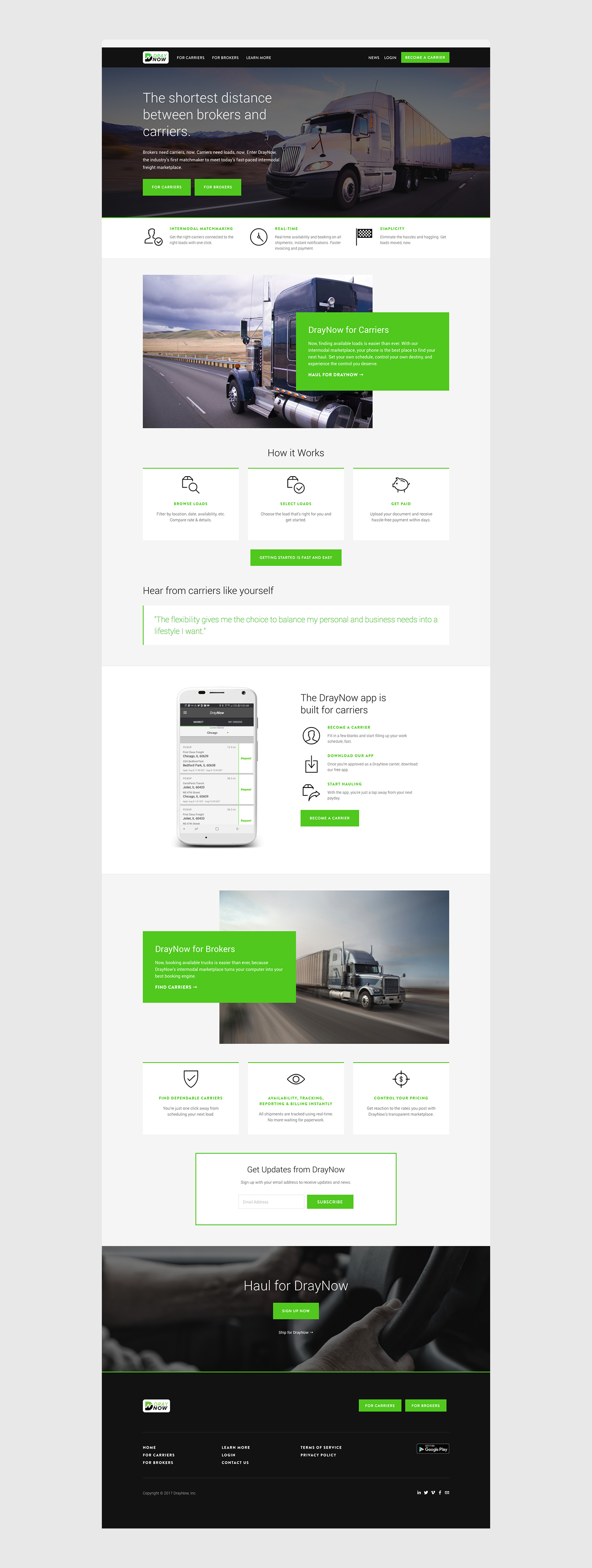 Squarespace Shipping Website