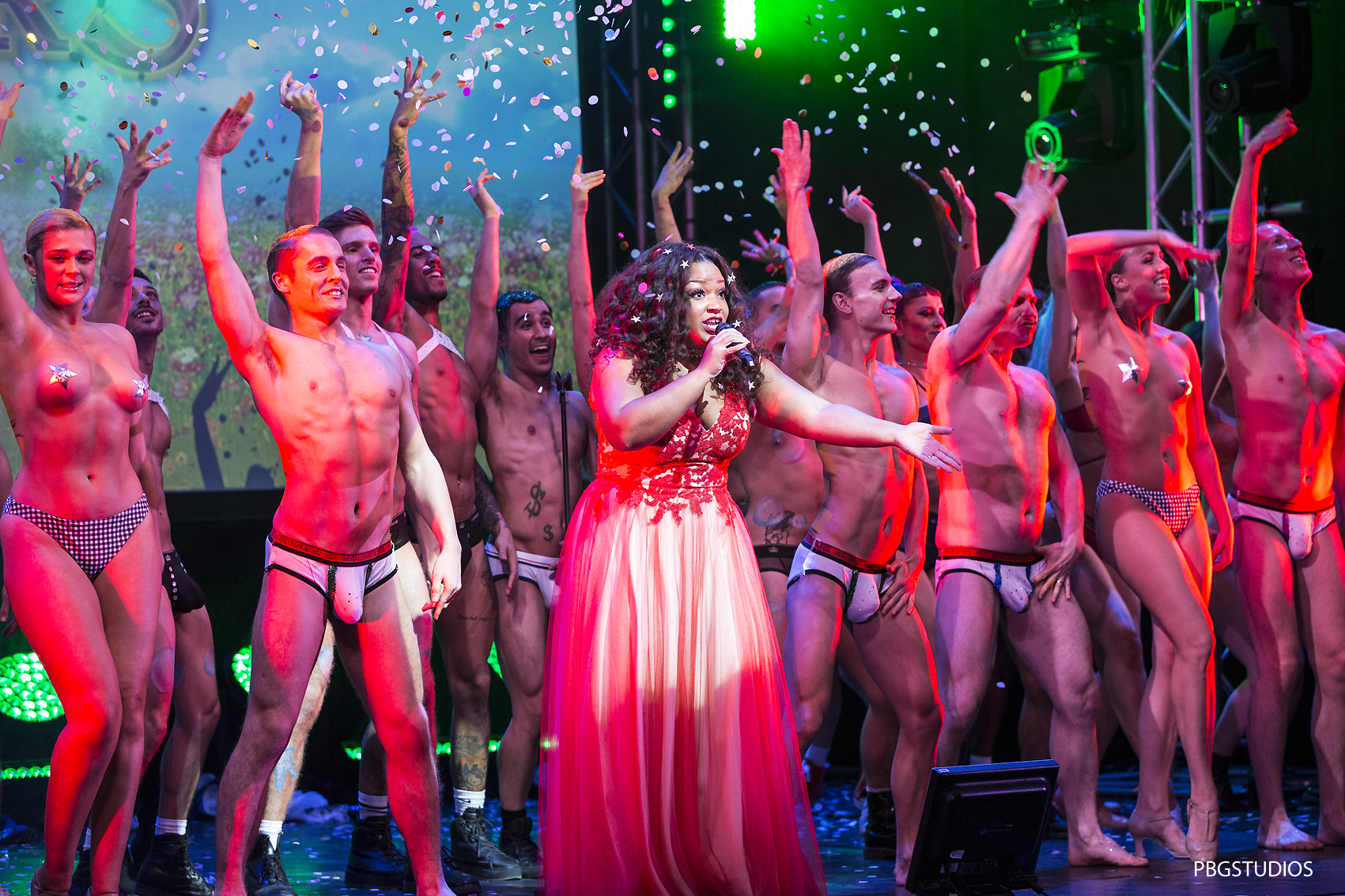 West End Bares Ruby Strippers show at the Novello Theatre