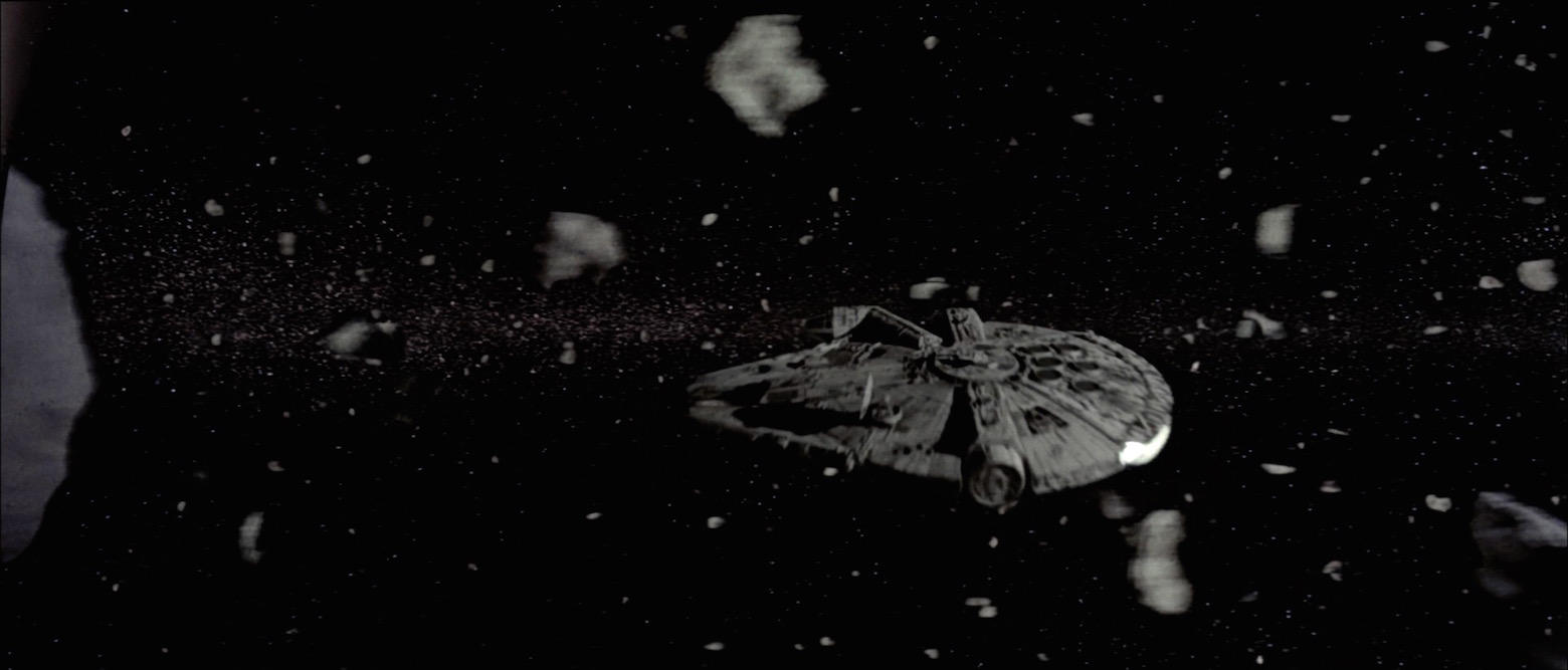 The Millennium Falcon and the asteroid field