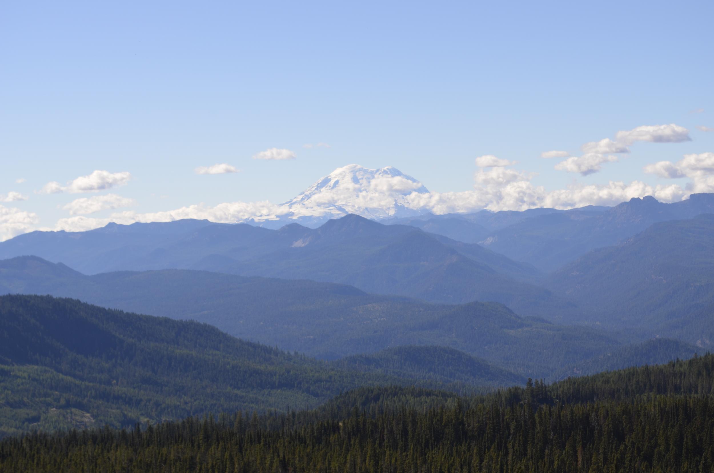 Mount Rainier keeps an eye on proceedings