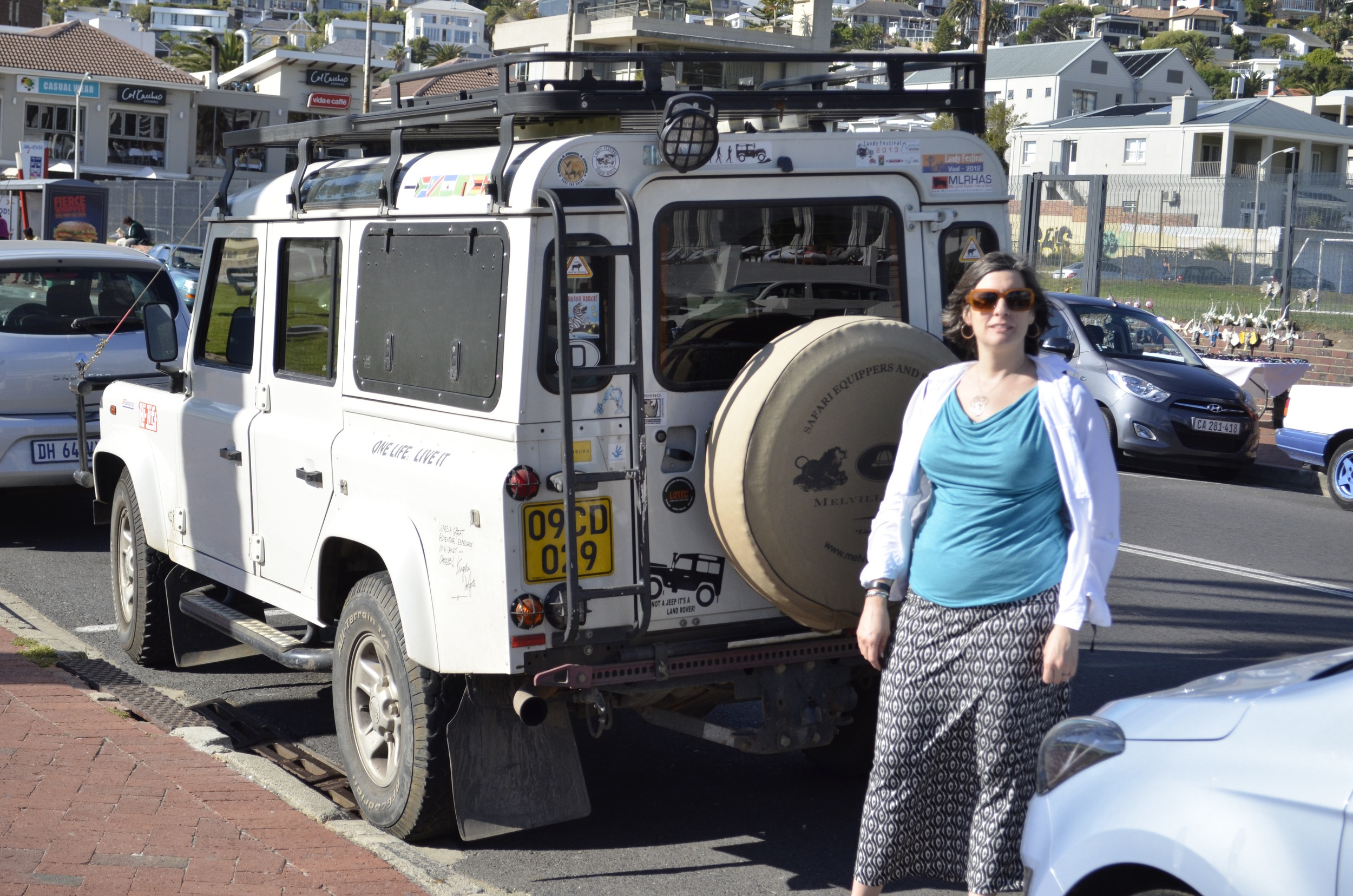Jenna spots an overlander that has clearly seen a few kilometers.