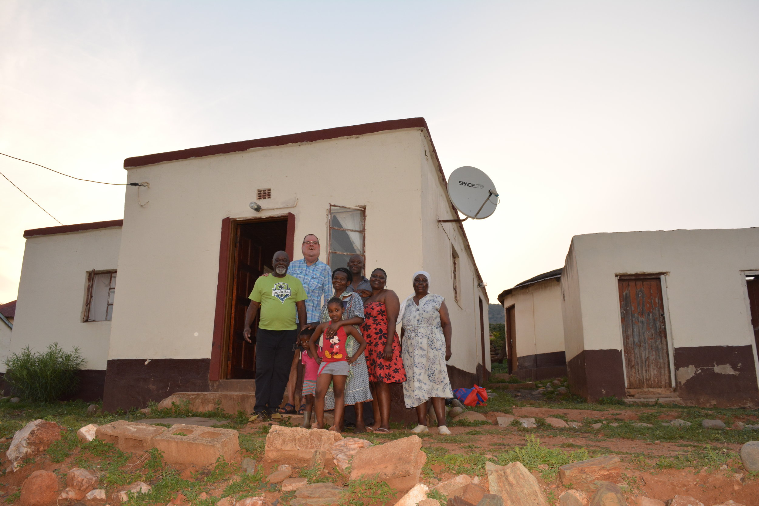 The head induna and his family were gracious hosts.