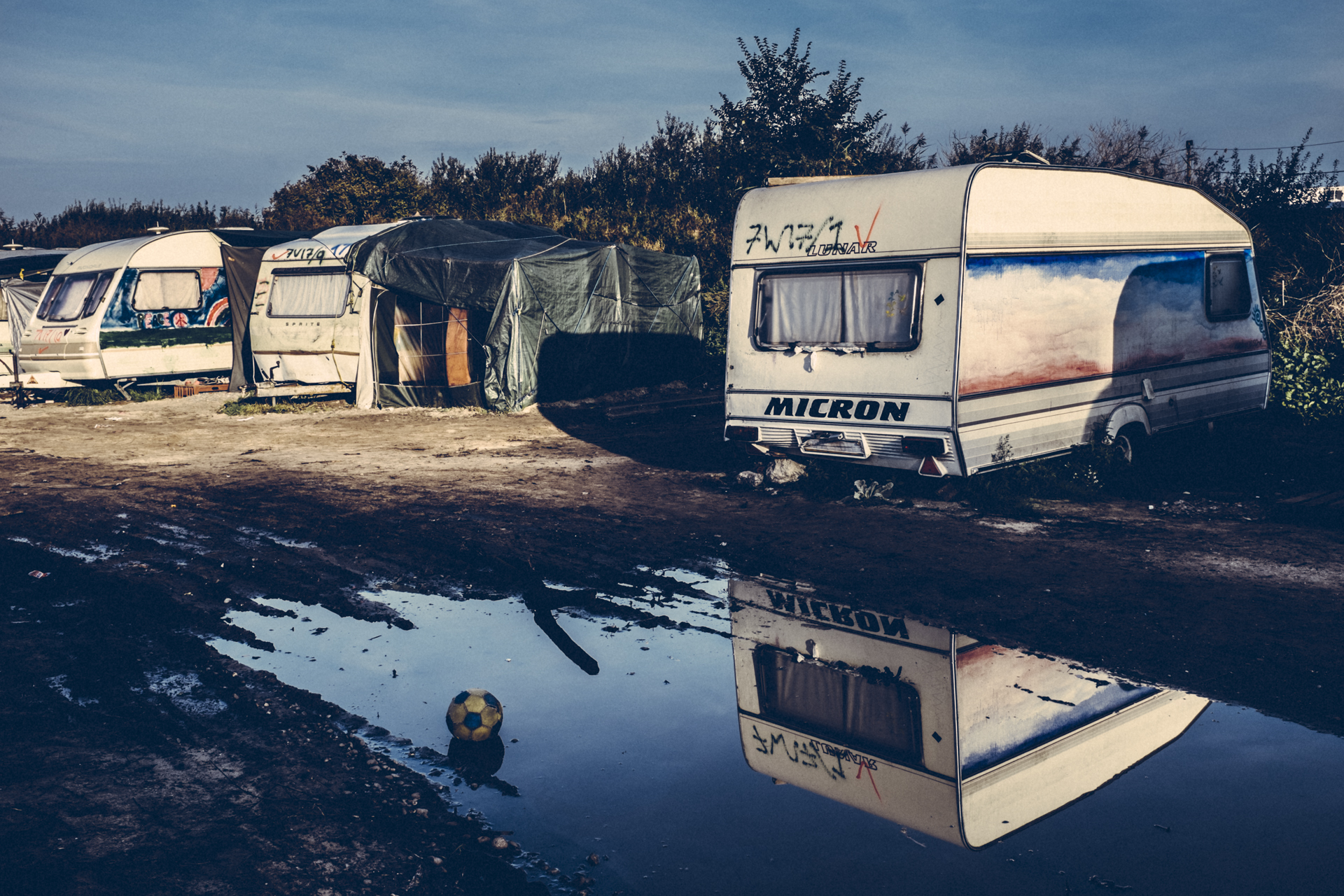 Shelters in the Jungle. Calais. France. 2016