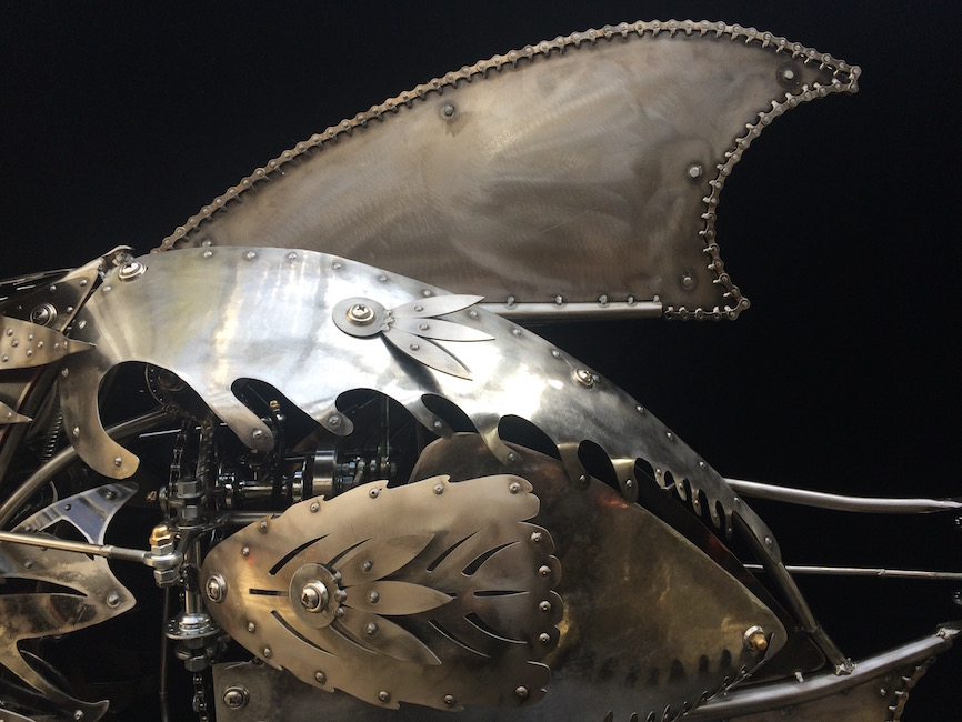 Stanley - a mechanical kinetic sculpture by Chris Cole 006