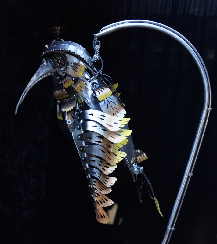 Jack - the kinetic sculpture of a hummingbird by Chris Cole 007
