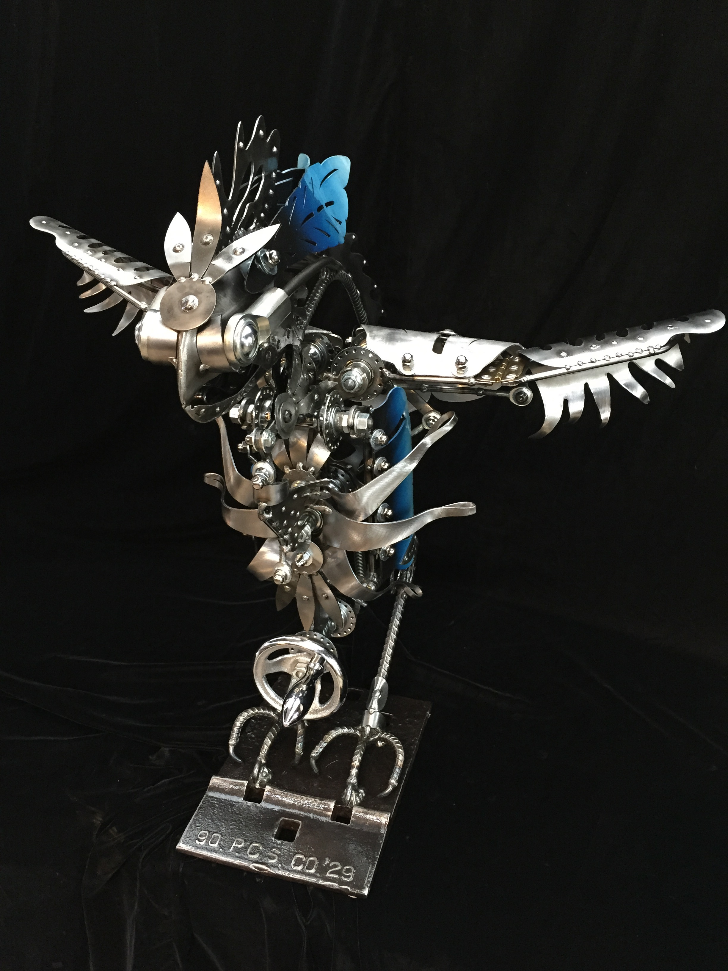 Kinetic Bird Sculpture by Chris Cole Commissioned for Tillamook 001