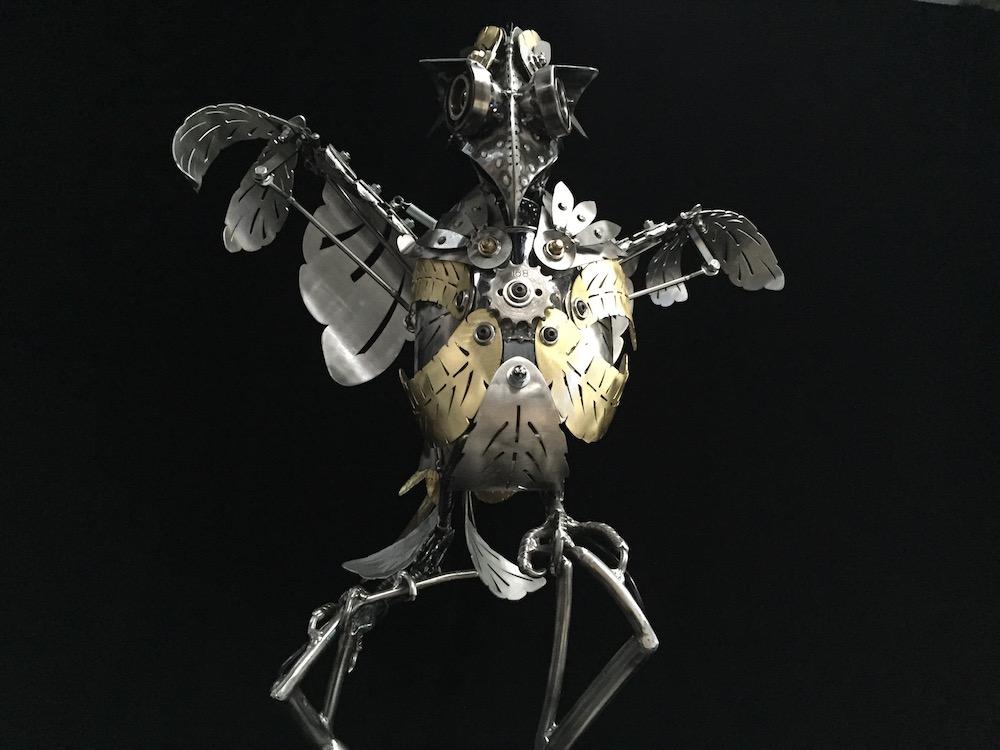 "Kinetic Sculpture ""Amelia"" by artist Chris Cole 003 Front Detail"