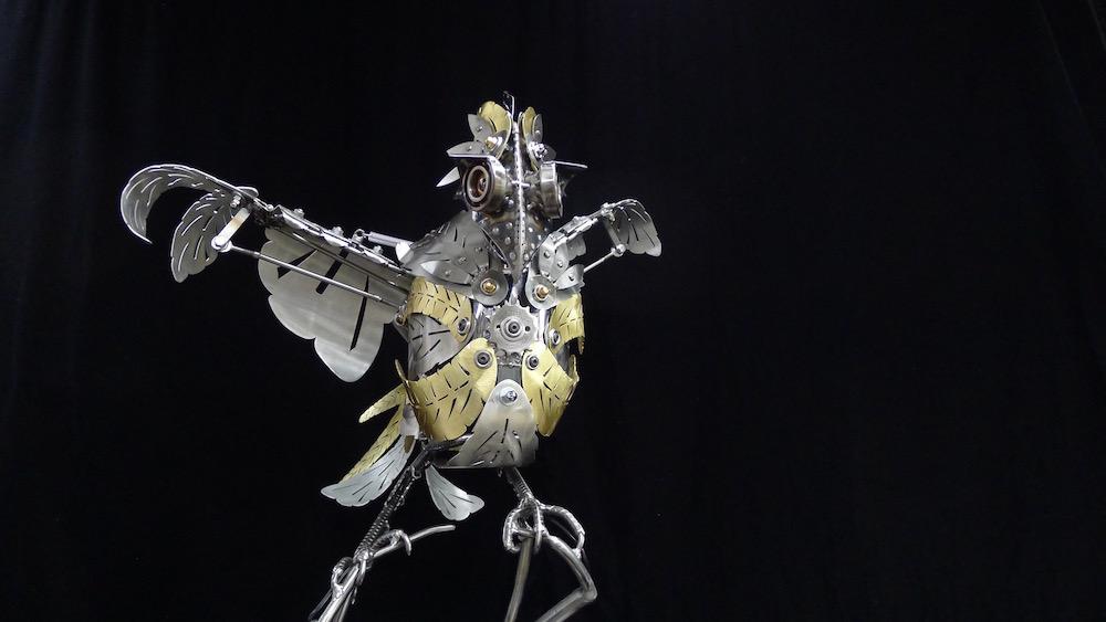 "Kinetic Sculpture ""Amelia"" by artist Chris Cole 001"