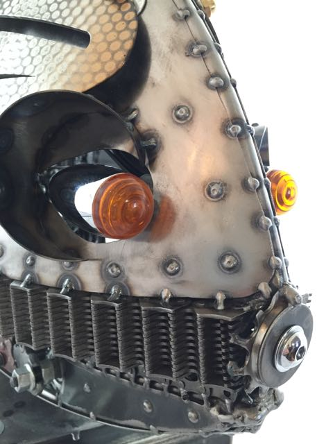 Rita Kinetic Sculpture by Chris Cole motorcycle lights detail 007