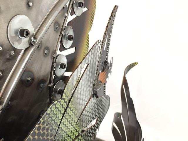 Rita KineticSculpture by Chris Cole steel detail 009