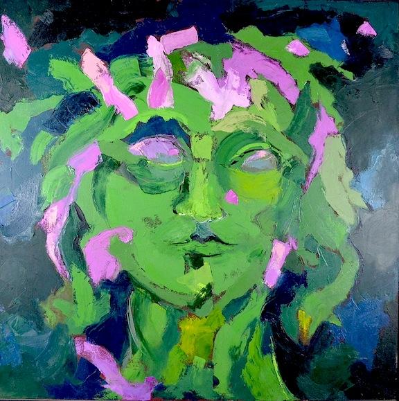 A Minor God  38x38  Oil/Canvas