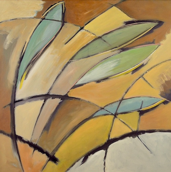 Abstract With 4 Leaves