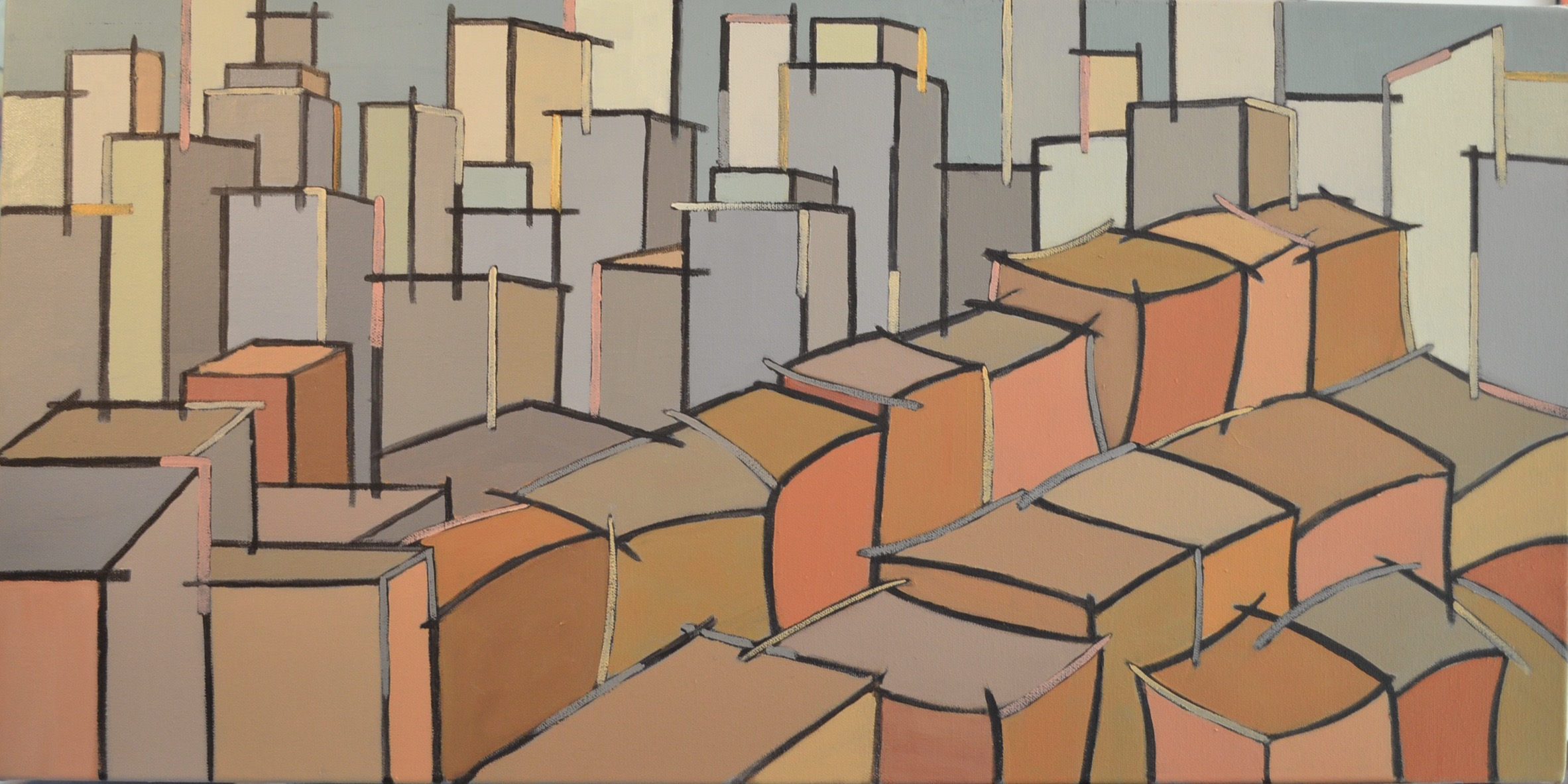 Ludlow Street, Lower East Side  Oil/Canvas  30 x 15