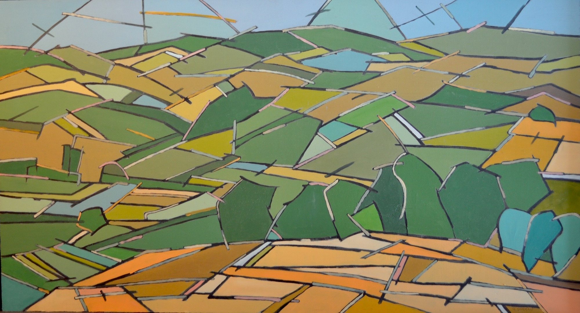 Tuscan Abstract Landscape 3