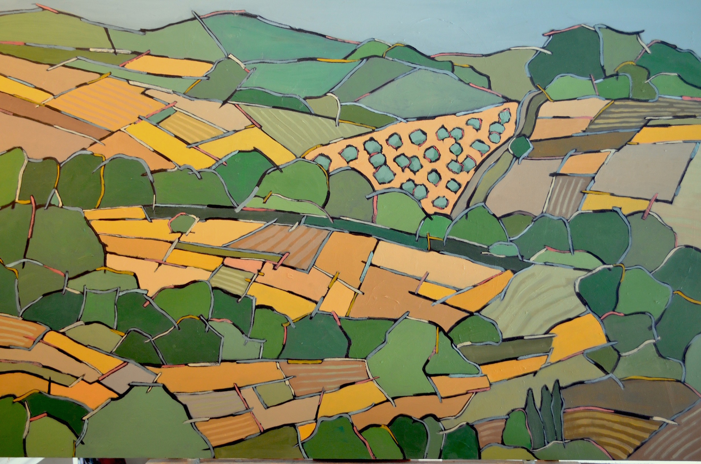 Abstract Tuscan Landscape 4