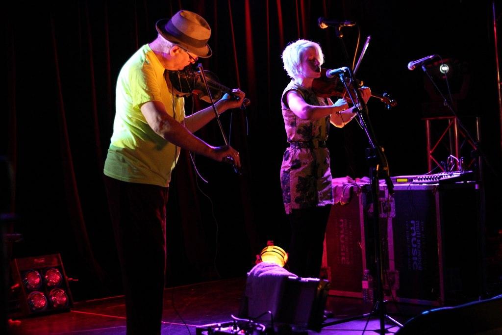 Tony Conrad and Jennifer Walshe, All Tomorrow's Parties Festival, Minehead, UK, 2011. Photo: Mike Modular