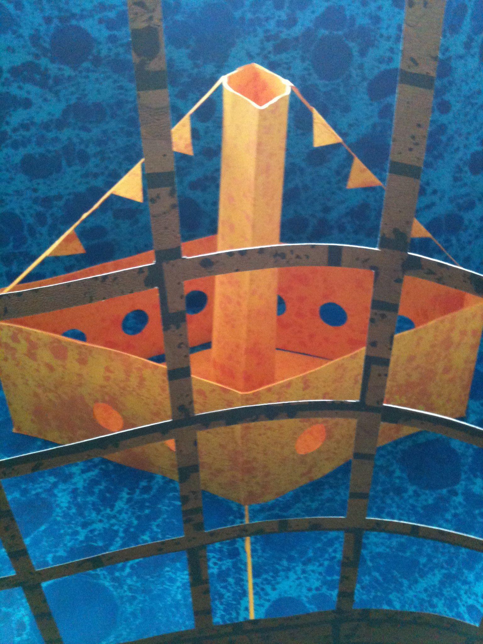 Hannah Kokoschka pop-up ship artwork