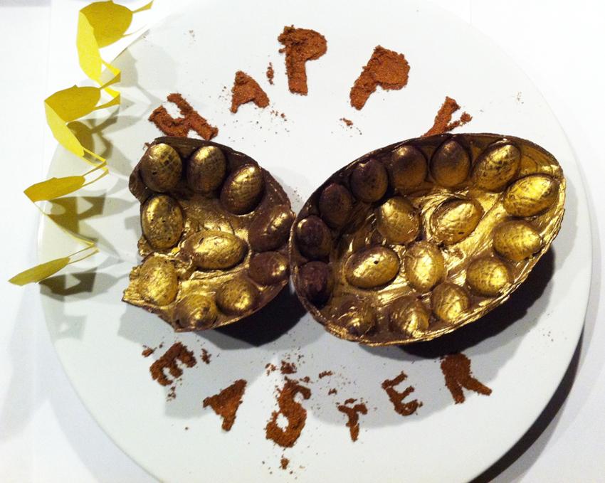 Hannah kokoschka's chocolate easter egg