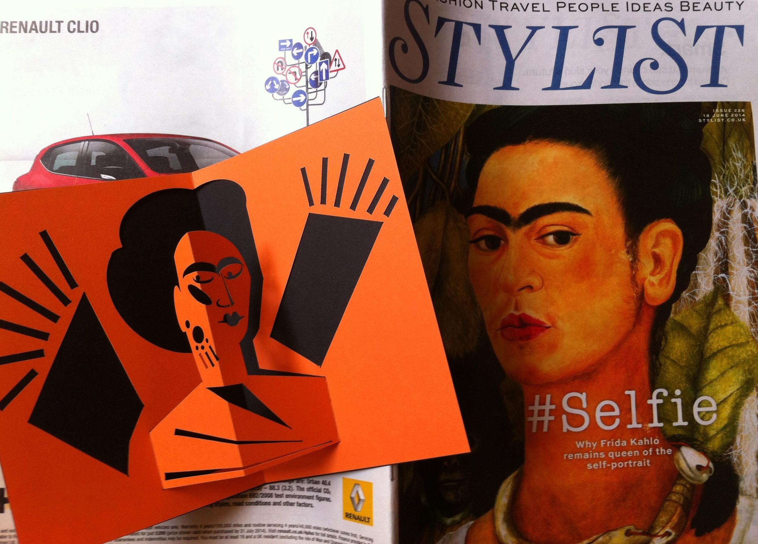 HK Frida Kahlo pop-up card