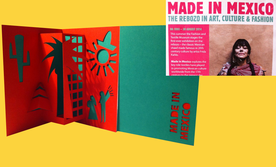 HK Made in Mexico pop-up cards