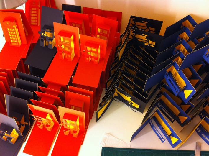 Hannah Kokoschka London pop-up cards for the Tate