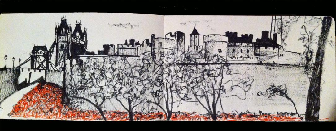 Hannah kokoschka's sketch of Tower poppies
